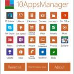 Manažer aplikací Windows 10